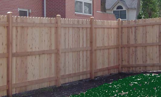 install wooden fence panels 3