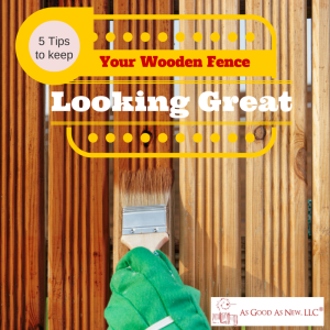 wooden fence maintenance