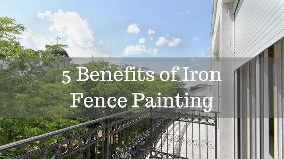 iron fence painting